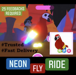 SALE NEON PARROT 🦜 CHEAPEST on eBay ADOPT ME 25 FEEDBACKS REQUIRED NFR $28.49