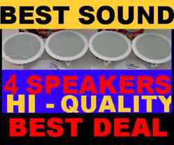 4 PACK CEILING IN WALL 8quot; HI QUALITY SPEAKERS $136.79
