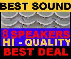 8 PACK CEILING IN WALL 8quot; HI QUALITY SPEAKERS $261.02