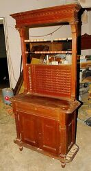 AntiqueVintage Turn-of-the-Century Combination Scorekeeper and Cabinet (S-11)