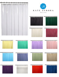 Hotel Heavy Duty 10 Gauge Vinyl Shower Curtain Liners - Assorted Colors  $15.99