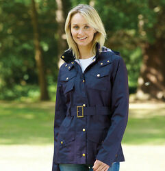 Champion Ladies Hythe Quilted Belted Country Jacket - Navy - Free UK P