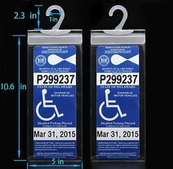 2x Handicap Parking Permit Placard Protector Cover Hanger Car Holder Hang Sleeve $11.98
