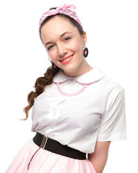 Womens White Peter Pan Collar Button Up Blouse - XS to 2X - Hey Viv 50s Style $10.98