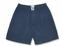 Biagio Mens Solid NAVY BLUE Color BOXER 100% Knit Cotton Shorts size 2XL