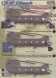 Print Scale Decals 1 48 BOEING CH 47 CHINOOK Helicopter Part 2 $15.99