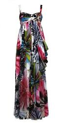 BRAND NEW Matthew Williamson 100% SILK DRESS GOWN MULTI-COLOR US 12