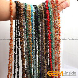 Natural 7 8mm Freeform Gemstone Chips Beads For Jewelry Making Strand 34quot;amp;15quot; $2.40