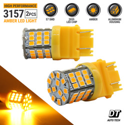 Syneticusa 3157 3156 LED Amber Turn Signal DRL Side Marker Light Bulbs $9.89