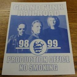 Vintage OTTO Backstage Concert Door Sign GRAND FUNK RAILROAD Production Office