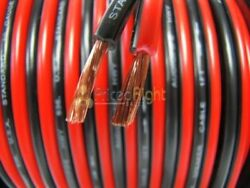 50 Ft 20 Gauge Speaker Wire Cable Car Home Audio 50' Black & Red Zip Wire