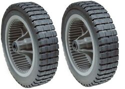SET OF 2 PLASTIC SELF PROPELLED GEAR GEARED DRIVE WHEELS MURRAY 20quot; 22quot; 071133 $25.45