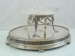 MAGNIFICENT LARGE GORHAM STERLING SILVER  CUT GLASS CRYSTAL CENTER PIECE 109 OZ