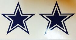 Dallas Cowboys Star 2 Pack Decal**FREE SHIPPING** $1.99