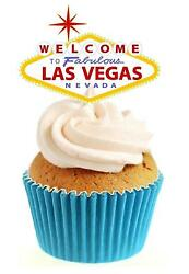 Novelty Las Vegas USA 12 Edible StandUp wafer paper cake toppers birthday GBP 2.79