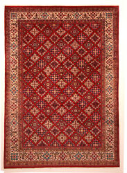 Red 10' x 14' Sarouk Rug Hand Knotted Persian Rug