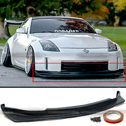 For 06 09 350z Z33 Unpainted Type NS Style PU Front Bumper Chin Lip Body Kit $84.99