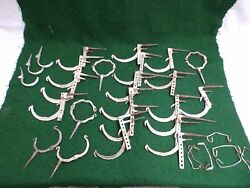 Lot Antique Gutter Hangers Brackets Hooks Ties Old Vintage Hardware 4749-15