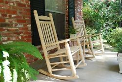 Home Outdoor Inddor Patio Garden 2 12 In Oak Double Back Two Rocking Chair Set