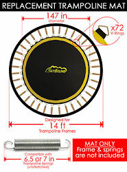SkyBound Premium 147quot; Trampoline Mat w 72 V Rings for Sky Bouncer 1401TB $119.95