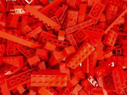 LEGO RED 1 4 lb Bulk Lot of Bricks Plates Specialty Parts Pieces Pounds $4.99