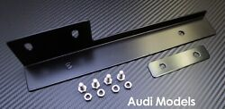 Black Front Bumper License Plate Relocator Bracket Holder JDM Bar for Audi