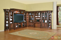 Huntington Traditional Corner Library Wall Unit Entertainment Center