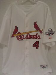 Yadier Molina #x27;09 St. Louis Cardinals Game Used Home Jersey Cardinals Team LOA $3499.99