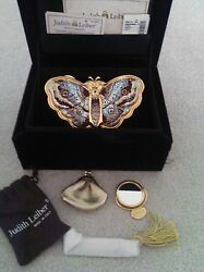 RARE - Judith Leiber - Gold Butterfly Bag Serialize 35 out of 50  - (EA-H-1002)