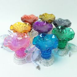 Crystal Glass Electric Oil Tart Warmer Fragrance Diffuser Burner Dimmable Lamp $16.99