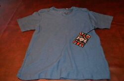Lions Crest by English Laundry Cotton Designer Shirts V Neck Indigo Color NWT