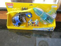 Fisher Price Imaginext DC Super Friends Batman helicopter mr. Freeze jet plane $62.70