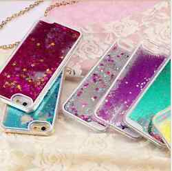 iPhone 6 amp;6 Plus Glitter Phone case Dynamic Quicksand Gold Star Back Cover $2.99