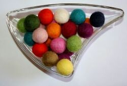 Lot of 2000 Balls Multicoloured Pure Wool Felt Balls Craft Supply Handmade Beads