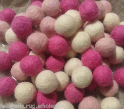 2100 Mix of Pink Felt Balls 20mm Pure wool Handmade Beads Pom Pom Nursery Craft