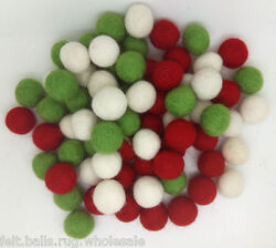 New Christmas Mix 2000 Felt Balls Craft Supply DIY 20mm Beads Handmade Pure Wool