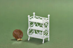 Dollhouse Miniature 1:24 White Wire Floor Shelves $7.99