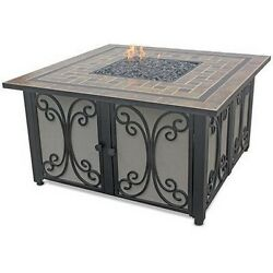 Endless Summer GAD1351SP Square LP Gas Outdoor Firebowl Slate NEW