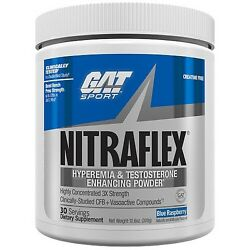 GAT NITRAFLEX Powerful Pre-Workout Testosterone Booster 30 Serving PICK FLAVOR