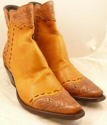 Stallion Boots Zorro Caramel w Tooling