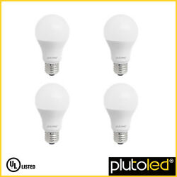 Plutoled 60W Equivalent Softwhite Dimmable 9W LED Light Bulb (4-Pack) 810 Lumens $19.90