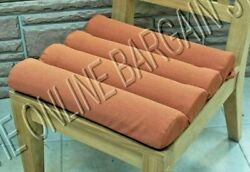 Frontgate Outdoor Channeled Replacement Patio Chair Cushion 17x17 Brick Orange