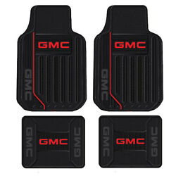 New 4pc GMC Elite All Weather Heavy Duty Rubber Front amp; Back Floor Mats Set $69.81