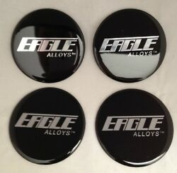 SET OF 4 NEW EAGLE ALLOYS WHEEL RIM CENTER CAP STICKER DECAL 71MM or 2.80