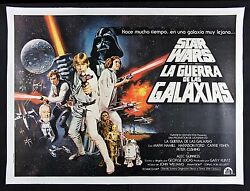 STAR WARS ✯ CineMasterpieces ARGENTINA 2SH RARE ORIGINAL MOVIE POSTER 1977