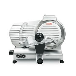 KWS Premium Commercial 320W Electric Meat Slicer 10quot; with Stainless Blade