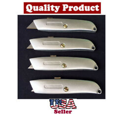 Utility Knife Cutter 4 Positions More Blades for Box Carton Stretch Film Cutting