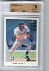 1990 LEAF SAMMY SOSA ROOKIE GEM MINT BGS 10 PRISTINE LOW POP RC