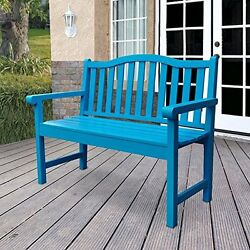 Shine Company 4212TQ Belfort Garden Bench 43.25 in.- Turquoise NEW