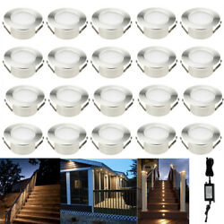 20X Warm White Φ61mm 1.5W 12V IP67 Garden Yard LED Deck Path Stair Rail Lights